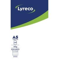 NOTESBLOK LYRECO KVADRERET UDEN HULLER A5