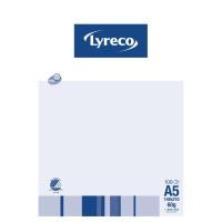 NOTESBLOK LYRECO  KVADRERET MED HULLER A5