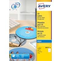 CD-ETIKETTER AVERY J8676-25 INKJET ÆSKE A 50  STK