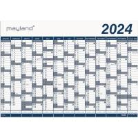 KALENDER MAYLAND 0650 00 KÆMPEKALENDER 2019 1X13 MÅNEDER PLAST RØR