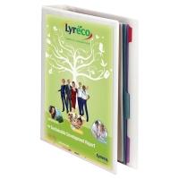 RINGBIND MED LOMME A4 PP 4D-RINGE 20MM - RYGBREDDE 38MM HVID