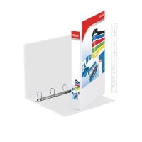 RINGBIND MED LOMME A4 PP 4D-RINGE 25MM - RYGBREDDE 44MM HVID