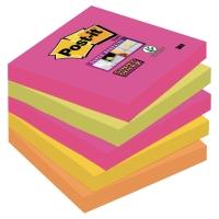 Post-it® Super Sticky Notes 654SN Cape Town 76mm x 76mm pakke a 5 blokke