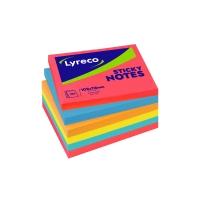 Lyreco notes 102mm x 76mm ultracolours assorterede farver pakke a 6 stk.