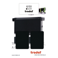 STEMPELPUDE TRODAT 6/50 SORT PAKKE A 2 STK.