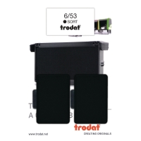 STEMPELPUDE TRODAT 6/53 SORT PAKKE A 2 STK.