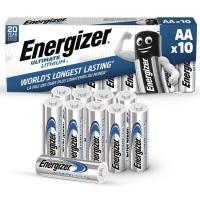 BATTERIER ULTIMATE LITHIUM  ENERGIZER AA/LR6 PAKKE A 10 STK