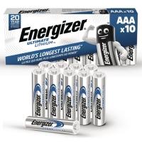 BATTERIER ULTIMATE LITHIUM  ENERGIZER AAA/LR3 PAKKE A 10 STK