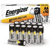 BATTERIER ENERGIZER AA/LR6 INDUSTRIAL ALKALINE 1,5V PAKKE A 10 STK