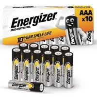 BATTERIER AAA ENERGIZER INDUSTRIAL ALKALINE 1,5V PAKKE A 10 STK