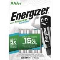 BATTERIER ENERGIZER EXTREME AAA/HR03 GENOPLADELIGT PAKKE A 4 STK