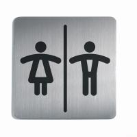 PICTOGRAM KVADRAT WC DAME & HERRE