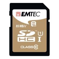 HUKOMMELSESKORT SDHC EMTEC GOLD 8GB