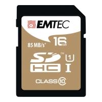 HUKOMMELSESKORT SDHC EMTEC GOLD 16GB
