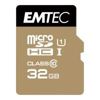 HUKOMMELSESKORT SDHC EMTEC MICRO GOLD 32GB