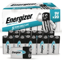 BATTERIER ENERGIZER ECO ALKALINE ADVANCED 9V/6LR61 PAKKE A 20 STK