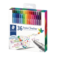 FINELINER STAEDTLER TRI 0,3MM ASS PAKKE A 36 STK
