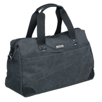 TASKE PIERRE WASHED CANVAS DUFFELBAG SORT/GRÅ