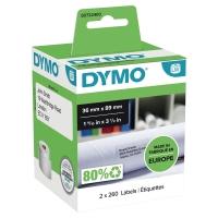 ETIKETTER DYMO 99012 36X89MM PAKKE A 2 RULLER A 260 STK ETIKETTER
