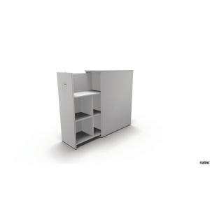Udtræksskab Maxi Tower 3 rum d 80cm højre hvid