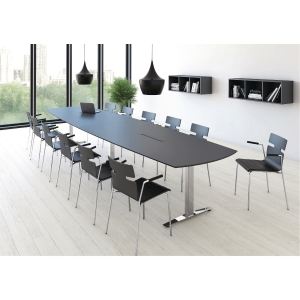 JIVE CONFERENCE TABLE 110X200 ANTHR/ALU