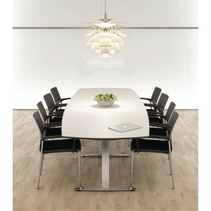 JIVE CONFERENCE TABLE 110/90X180 WH/ALU