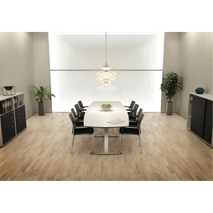 JIVE CONFERENCE TABLE 110/90X400 WH/ALU