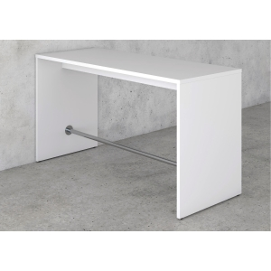 MEETING H/TABLE W/FOOTREST 110X80X160 WH