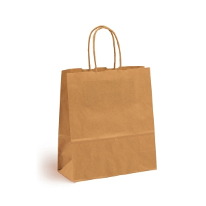 Gavepose med hank, brun, 210 x 190 x 80 mm, pakke a 250 stk.
