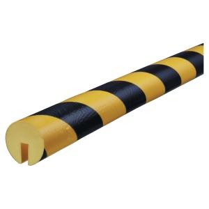 Vinkelbeskyttelse Knuffi type B PE 1m sort/gul