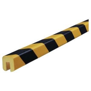 Vinkelbeskyttelse Knuffi Type G PU 1m sort/gul