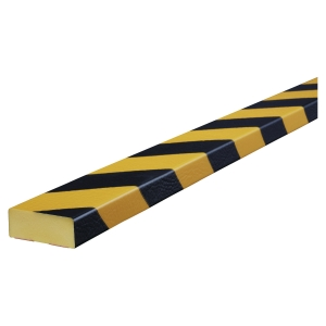Vinkelbeskyttelse Knuffi type D PU 1m sort/gul
