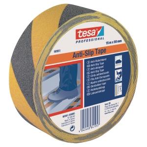 Tape Tesa 60950 skridsikker 50mmx15m sort/gul