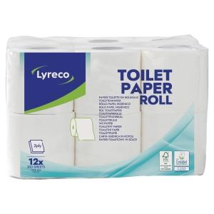 Toiletpapirrulle Lyreco 2-lag 200 ark pakke a 12 stk.