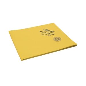Mikrofiberklud Vileda MicronQuick, 40 x 38 cm, gul, pakke a 5 stk.