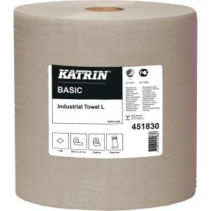 Håndklædepapir Katrin 451830 Basic L, industri, pakke a 2 ruller