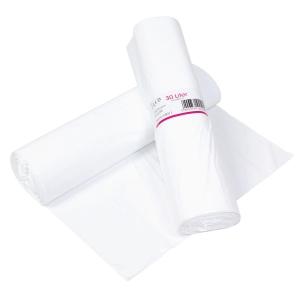 Affaldsposer, 30 L, 52 x 58 cm, 12 my, hvid, rulle a 100 poser