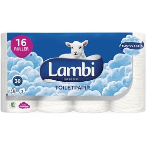Toiletrpapir Lambi 28856 pakke a 16 ruller