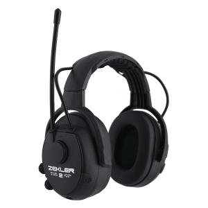 Høreværn Skydda Zekler 412RD, radio, sort, SNR 30 dB