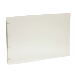 PLASTPETTER 4-RING BINDER PP 16MM TRANSP