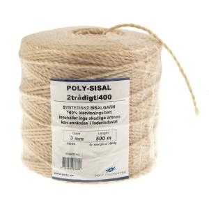 Garn polysisalgarn 2/400, 3 mm, 500 m