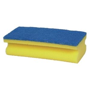 Skuresvamp, 7 x 15 cm, blå, pakke a 10 stk.