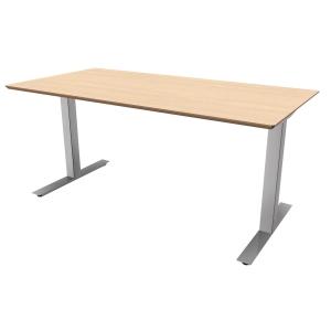 Hæve-sænke-bord Jazz/Square birk/alu 200 x 80 cm
