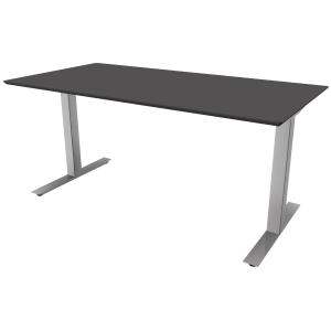 Hæve-sænke-bord Square, 160 x 80 cm, antracit/aluminium