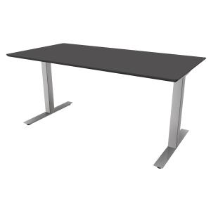 Hæve-sænke-bord Jazz/Square antracit/alu 180 x 80 cm