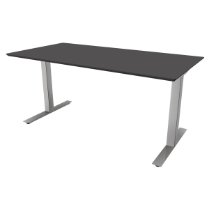 Hæve-sænke-bord Square, 200 x 80 cm, antracit/aluminium