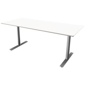 Hæve-sænke-bord Jazz/Inline hvid/alu 160 x 80 cm