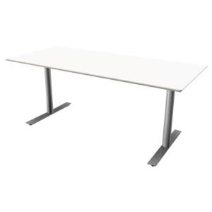 Hæve-sænke-bord Jazz/Inline hvid/alu 200 x 80 cm