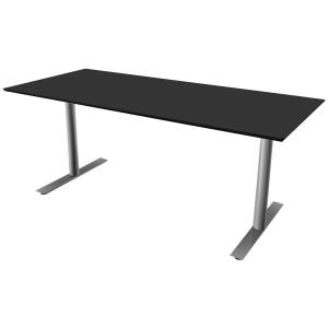 Hæve-sænke-bord Jazz/Inline sort/alu 180 x 80 cm