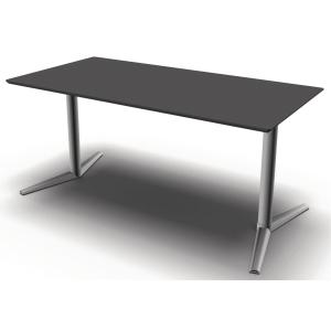 Hæve-sænke-bord Jazz/Switch antracit/alu 160 x 80 cm